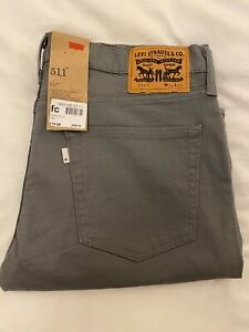 Levi's 511 - Mens Jeans - Grey - W36 L32 - New & Unworn - Levi Strauss