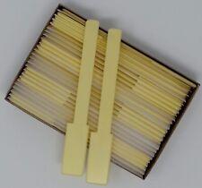 "Piano Keytops Satin Yellow Simulated Ivory Full set of 52 1-15/16"" Head"