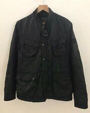 Men's Barbour Jacket Coat Quilted Padded Black Size L Large