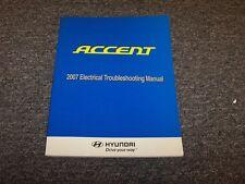 2007 Hyundai Accent Factory Electrical Wiring Diagram Manual Book GS GLS SE 1.6L