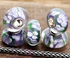 5 High Glas Bead für Armband - Kette* Großloch Perlen* Beads * Modularmband #99