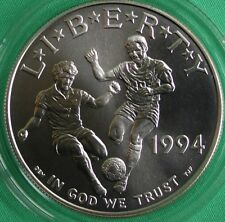 1994 World Cup Soccer BU 90% Silver Dollar Commemorative $1 COIN ONLY