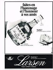 PUBLICITE  1969   LARSEN  cognac