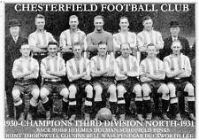 CHESTERFIELD FOOTBALL TEAM PHOTO>1930-31 SEASON