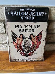 Sailor Jerry A4 SIZE Metal Sign Plaque Vintage 30x20cm
