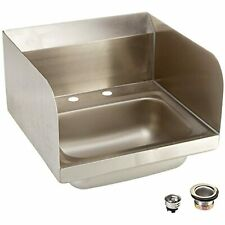"John Boos PBHS-W-1410-2DM-SSLR Stainless Steel 304 Pro-Bowl Hand Sink, 4"""