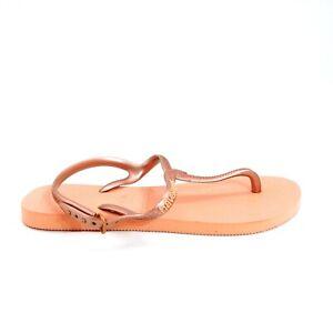 Havaianas Womans Alpargatas Silk Rose Rubber Thong Sandal Sz 7/8 W NEW