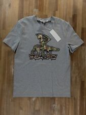 STELLA MCCARTNEY t-shirt gray print Italy mens authentic Size Large NWT