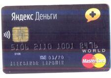 Russia MasterCard World Credit Card Yandex Money