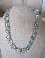 Fabulous Rutilated Rock Crystal Beads Pools of Light Choker Necklace