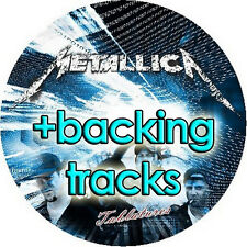 METALLICA BASS & GUITAR TAB LESSONS CD + BACKING TRACKS MUSIC SONG E-BOOK MP3