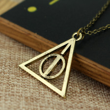 NEW Harry Potter Deathly Hallows Necklace Charm Pendant Bronze rotating spinning