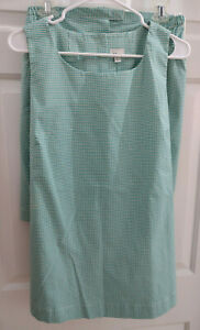 Mimi Maternity Shorts and Top Set Checked Vintage Made in USA Size Large