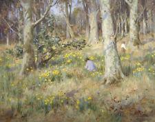 MacGeorge Stewart William Picking Daffodils Print 11 x 14    #3937