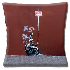 "NEW Banksy Graffiti Artist Native Indian No Trespassing 16"" Pillow Cushion Cover"