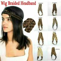 Women Girls Braided Synthetic Hair Plaited Plait Elastic Headband Hairband HOT