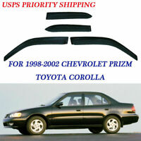 4pcs Sun/Rain Guard Vent Shade Window Visor  Fit for Chevrolet Prizm 1998-2002