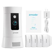 Zmodo Pivot Cloud Rotating Smart Camera with Four Door/Window Sensors