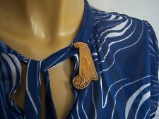 ancienne BROCHE Pic à ROBE Harpe arabesques ART DECO 30's Muse Poetry Brooch
