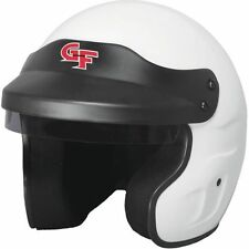 G-Force Racing Gear 3121SMLWH SA2015 Certified GF1 Open Face Helmet White(Small)