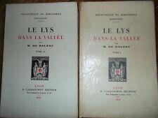 M. de BALZAC Le Lys dans la Vallée. 'Bibliothèque du bibliophile (Romantiques)