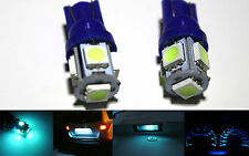 2x T10 5050 168 194 Led Bulb Dome Map Trunk License Plate Light Parking Ice Bule