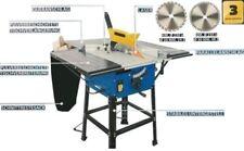 Tischkreissäge HS100WZ 2000W, 2x Sägeblatt +Untergestell+ 2 Tischverbreiterungen