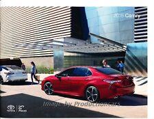 2018 Toyota Camry and Hybrid 32-page Original Car Sales Brochure Catalog