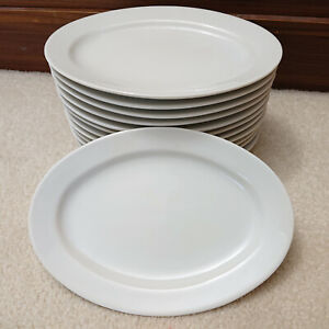 "8"" White Porcelain Oval Plates (14 Units)"
