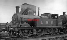 PHOTO  LMS EX MIDLAND 1P 0-4-4T 1368 1949 AT ROYSTON LOCO DEPOT