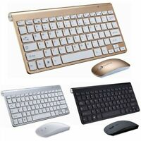2.4G Wireless Keyboard and Mousefor Apple Imac Desktop Pc Full Size Combo Set