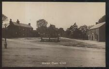 REAL PHOTO Postcard CRICH ENGLAND  Local Area Market Place Houses/Homes 1910's