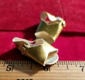 "Vintage Gold 12"" Doll Sandals Madame Alexander OSS/MINT 1-1/2"" x 5/8""  #86"