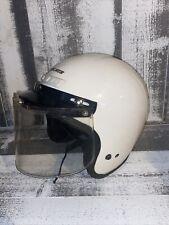 Vintage Arthur Fulmer AF20 DOT Motorcycle Helmet With Visor And Shield White
