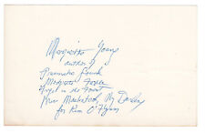 Marguerite Young Signed Card (Listing Her Books) / Literary Autograph