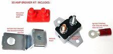 HD 50 amp 12 & 24 Volt Boat Trolling Motor Circuit Breaker Kit w/ Bracket Boot