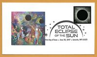 Beautiful Eclipse Art. Total Solar Eclipse of the Sun. FDC