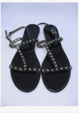 GIVENCHY Flat Jelly Stud Sandals Black 41