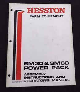 GENUINE HESSTON SM30 SM60 POWER PACK OPERATORS MANUAL VERY GOOD SHAPE