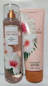 Bath and Body Works Hibiscus Paradise Fine Fragrance Mist &  Body Cream Set