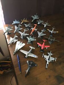 20 Die-cast Fighter Jets 15 On Stands/All in exelent condition!
