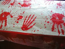 BIG Halloween sangue splatered PLASTICA TOVAGLIA,137 X 274cms