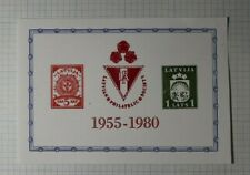 Latvija Philatelic Society Lithuania 1980 Philatelic Souvenir Ad Label