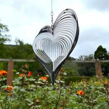More details for heart wind spinner beating wind catcher for yard  garden decor outdoor hanging