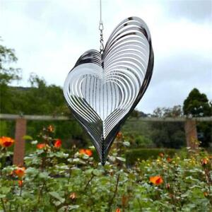 Heart Wind Spinner Beating Wind Catcher For Yard  Garden Decor Outdoor Hanging