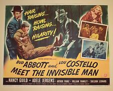 Abbott & Costello Meet the Invisible Man Half Sheet 1951