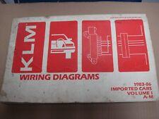 1985-86 Merkur XR4Ti Wiring Diagrams/Schematics