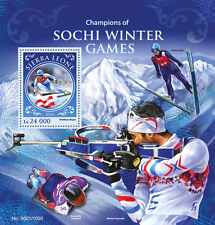 Sierra Leone 2016 MNH Sochi Winter Games Champions 1v S/S Winter Olympics Stamps