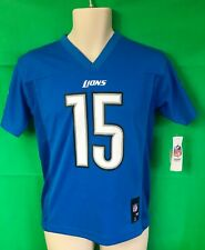 J.120 NFL DETROIT LIONS GOLDEN TATE III #15 Jersey YOUTH Medium 10-12 NWT