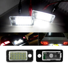 2X Error Free 18LED LICENSE PLATE LIGHT NUMBER LAMP White FOR AUDI Q7 A4 A6 New